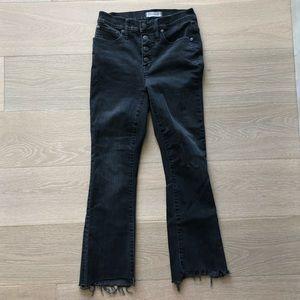 Madewell Cali Demi-Boot Jeans : Chewed-Hem Edition